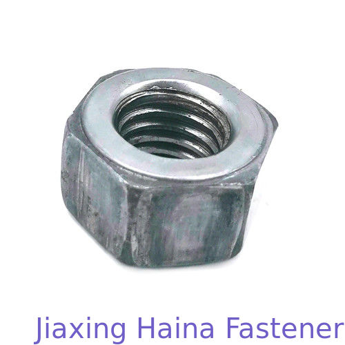 OEM SS316 Hex Head Nuts , White Zinc Plated Iron Metric Nut Thickness Custom