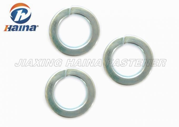 Split Spring Washer For Railway , Anti Loose Split Ring Washer With Square Ends