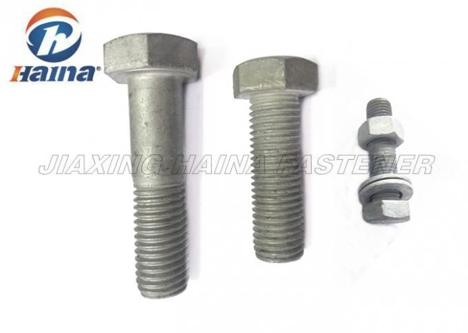 Carbon Steel Hot Dip Galvanized DIN933 DIN931 ASTM A325 A490 ISO4041 Heavy Hex Head Bolts