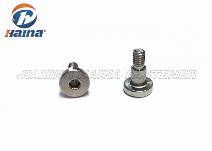 A2 A4 Stainless Steel Cap Screw Natural Color , Hexagon Socket Head Shoulder Screws