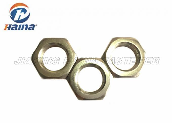 Customized Heavy Hex Jam Nut For Marine , Stainless Steel Hexagon Thin Nut