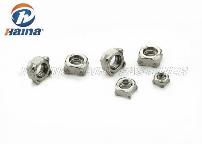 Standard Stainless Steel Weld Nuts Square Bright Finish M4 M5 M8 DIN 928